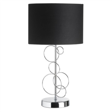 Endon Finchley Chrome Silver Circles Table Lamp