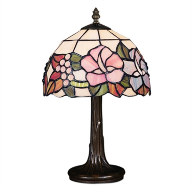 Lily Small Tiffany Style Stained Glass Traditional Table Lamp
