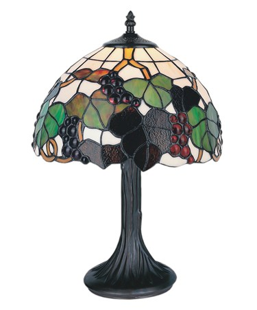 Tiffany Style Rubus Stained Glass Table Lamp - Medium