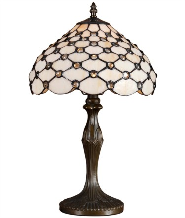 Tiffany Style Jewel Beads Medium Stained Glass Table Lamp