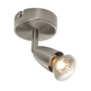 Endon Amalfi Single Spotlight - Adjustable - Satin Nickel