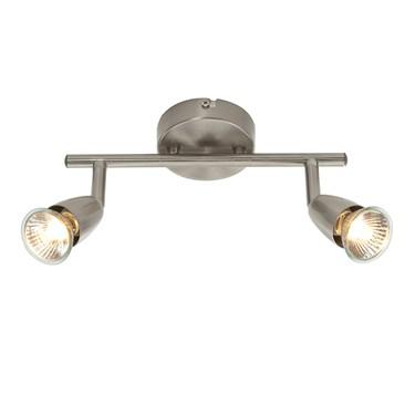 Endon Amalfi Twin Bar Spotlight - Adjustable - Satin Nickel