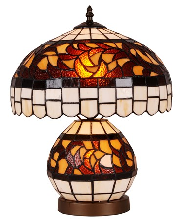 Valencia Dual Tiffany Style Stained Glass Table Lamp