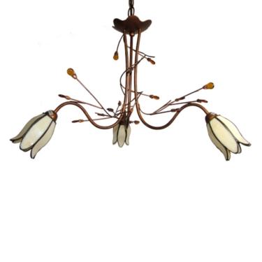 Tiffany Style Luciano Semi Flush Pendant - 3 Light
