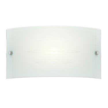 Endon Hadley Glass Wall Light - Gloss White