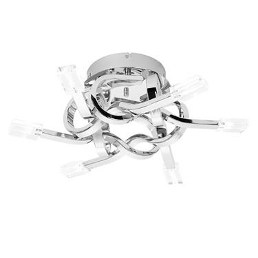 Endon Leoni Semi Flush Light Fitting - Twisted Chrome & Glass