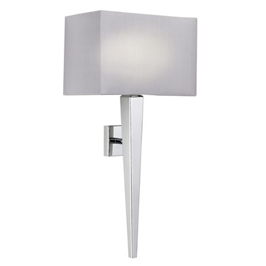 Endon Moreto Wall Light - Chrome - Grey Shade