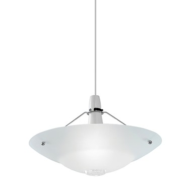 Endon Pisa Non Electric Pendant Shade - Glass With Clear Ball Detail