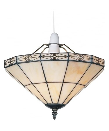 Tiffany Style Portland Cream Uplighter Ceiling Light Shade