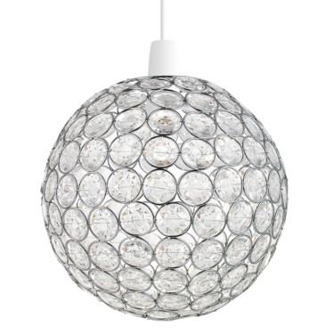 Endon Oakley Non Electric Chrome Beaded Ball Pendant