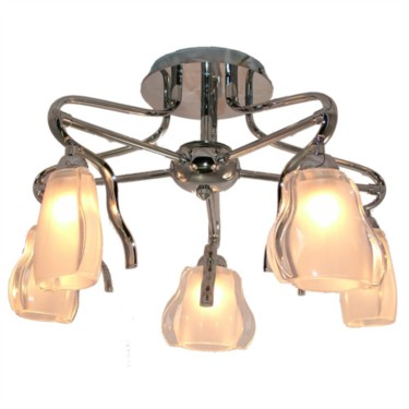 Mirabel Halogen Semi Flush Pendant - 5 Light