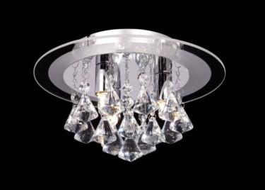 Endon Renner Crystal Droplet Flush Fitting - 3 Light