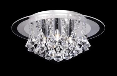 Endon Renner Crystal Droplet Flush Fitting - 5 Light