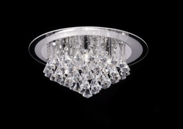 Endon Renner Crystal Droplet Flush Fitting - 6 Light