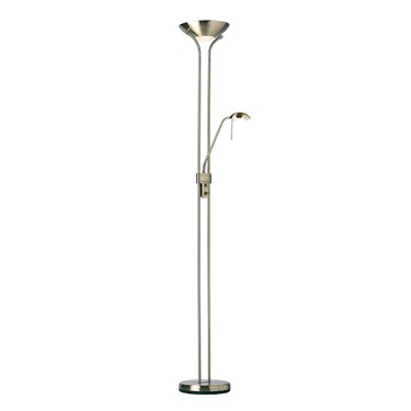 Endon Rome Mother & Child Floor Lamp - Dimmer Switch - Antique Nickel
