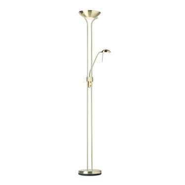 Endon Rome Mother & Child Floor Lamp - Dimmer Switch - Satin Brass