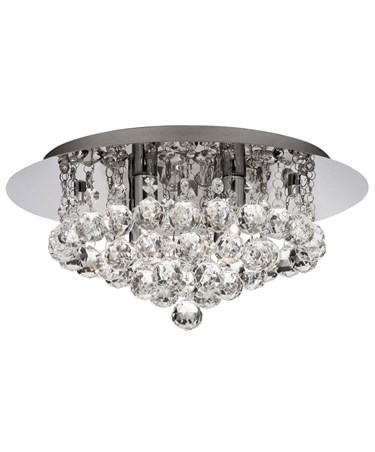 Senza Chrome & Crystal Ball Droplets Ceiling 4 Light