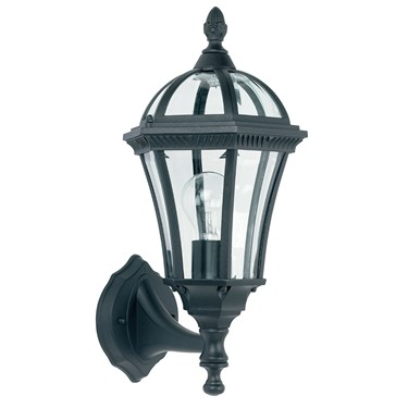 Endon Drayton Traditional Outdoor Lantern Wall Light - Black - IP44
