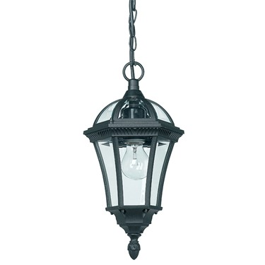 Endon Drayton Traditional Outdoor Pendant Light - Black - IP44