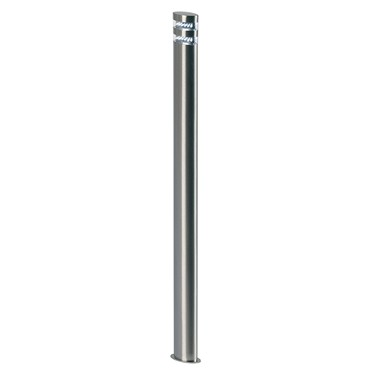 Endon Radian Bollard Light - Polished Stainless Steel - IP44
