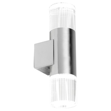 Endon Grant LED Diffuser Outdoor Wall Light - Polished Stainless Steel - IP44