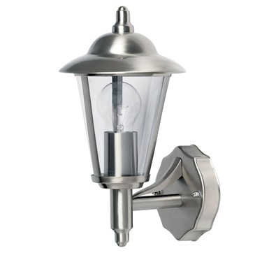 Endon Klien Uplight Outdoor Wall Light - Polished Stainless Steel - IP44