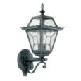 Endon Black and Silver Lead Glass Lantern Wall Light