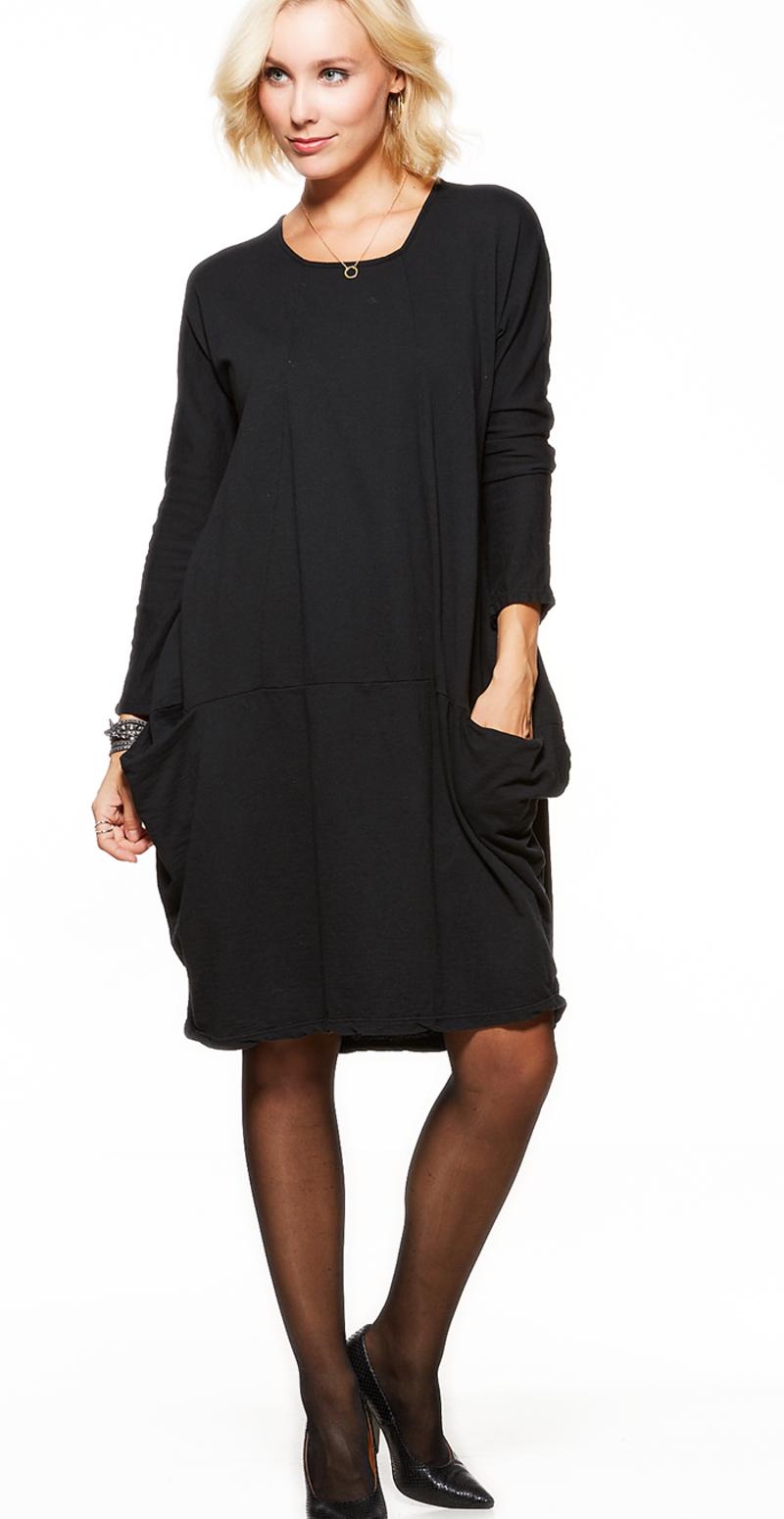 sort kjole lange ærmer