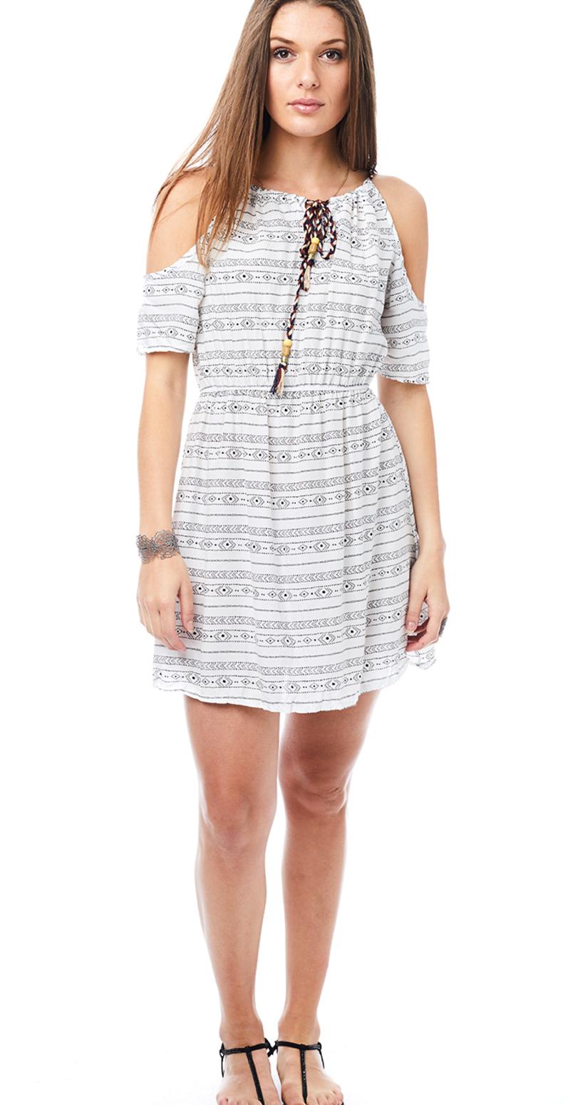 hvid off shoulder kjole