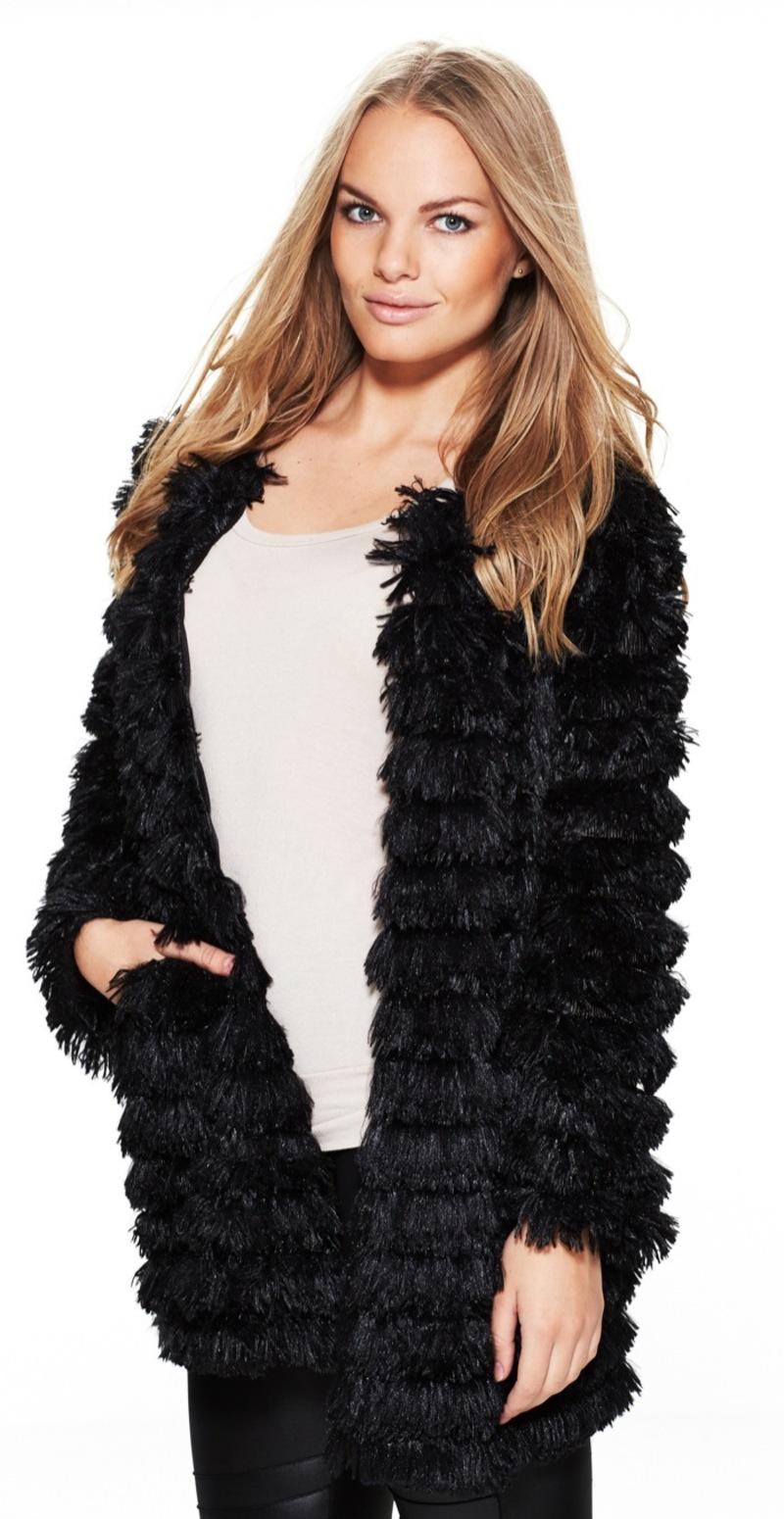 kunstig pels frakke