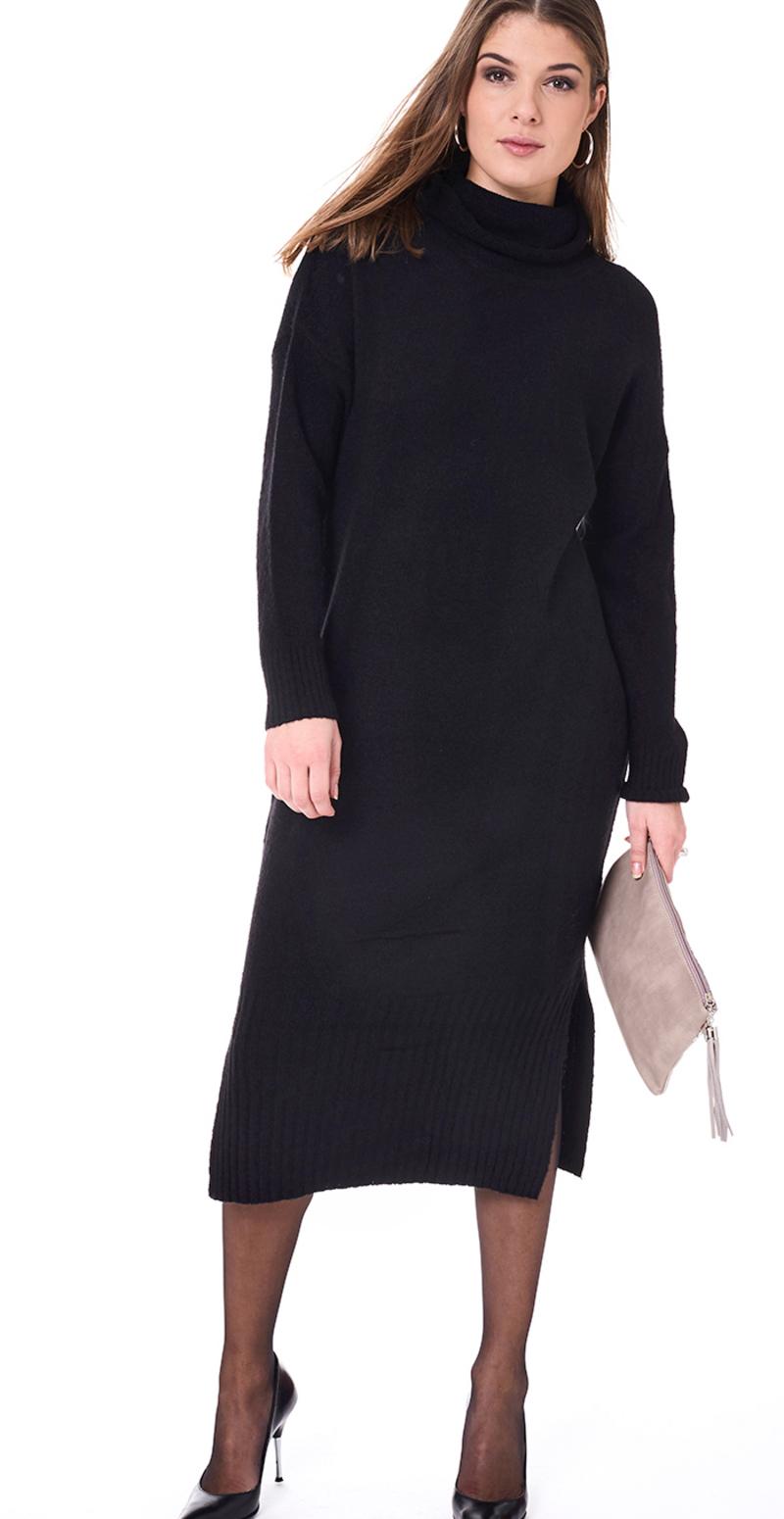 sort kjole med rullekrave