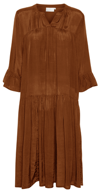 Kathea dress rodbrun