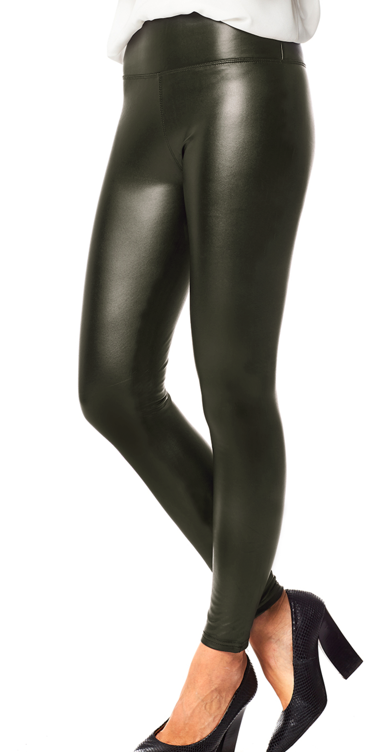 Army wetlook leggings