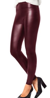 Bordeaux wetlook leggings