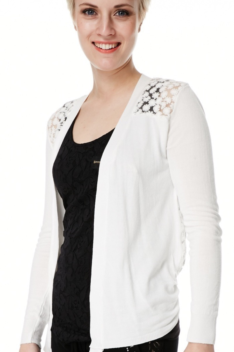 hvid blonde cardigan