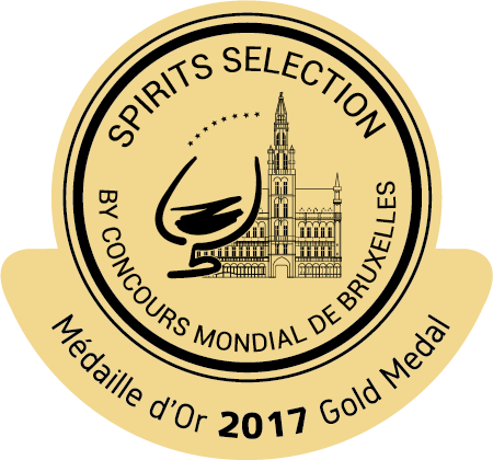 caption=Medalha de Ouro !! Spirits Selection by Concours Mondial de Bruxeles 2017; class=medalha; alt=Medalha