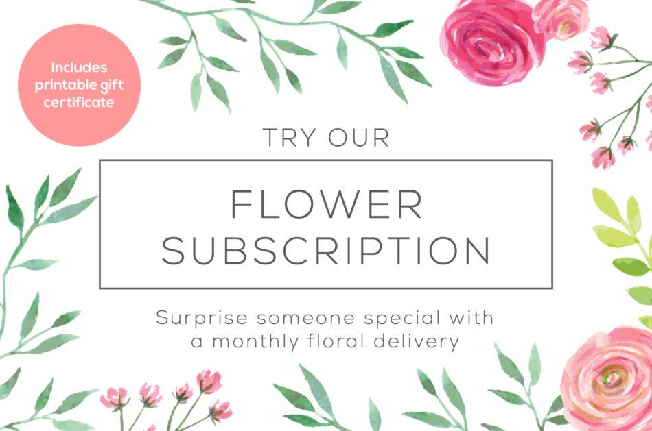 Florist Subscription Web Banner