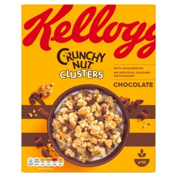 Kellogg's Crunchy Nut Clusters Chocolate Curls 450g