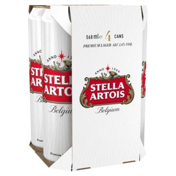 Stella Pint Cans 4x568ml