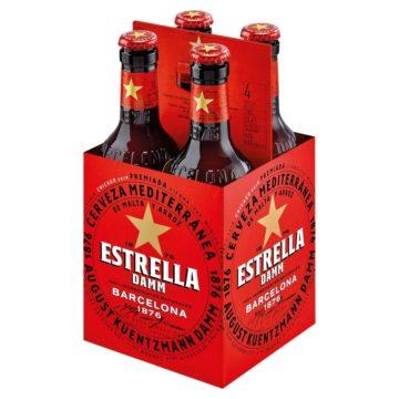 Estrella Damm Bottles 4x330ml