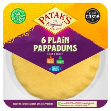 Patak's Plain Pappadums 64g