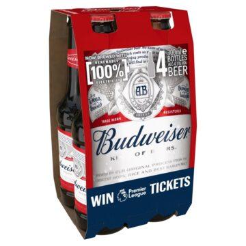 Budweiser Bottle 4x300ml