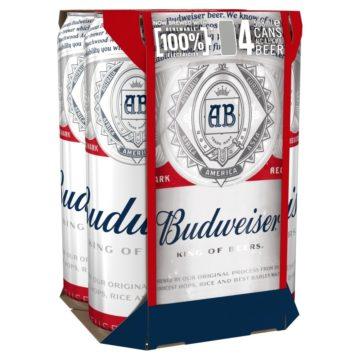 Budweiser Pint Cans 4x568ml