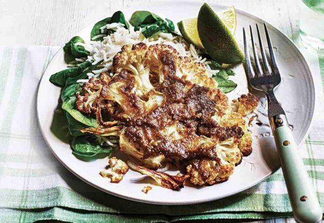 Thai green cauliflower steaks