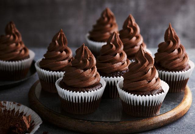 Fairtrade ultimate vegan chocolate cupcakes (V)