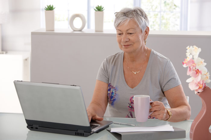 Online Obituaries Lady Laptop
