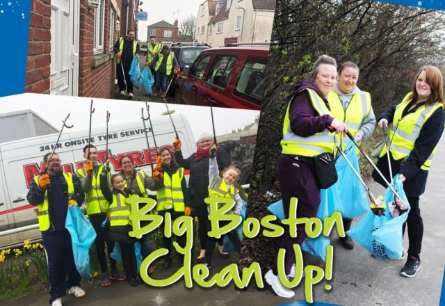Colleagues do their bit cleaning up the streets of Boston