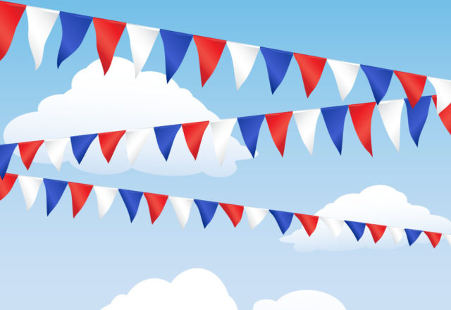 Make your own bunting for VE Day