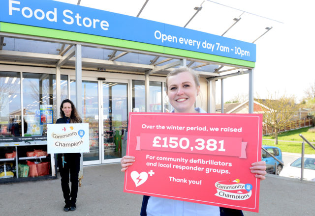 £150,000 raised to help save lives