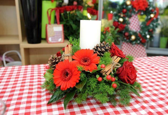 How to make a festive floral arrangement
